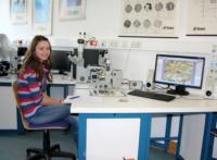 Arbeit in der Metallographie