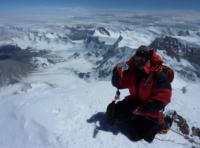 Prof. Villmann auf dem Gipfel des Muztagh Ata (China, 7546m)