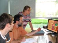 Prof. Villmann mit seinen Forschungskollegen Frau Dr. Geweniger und Herrn Haase