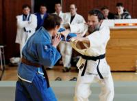 Prof. Villmann beim Judo