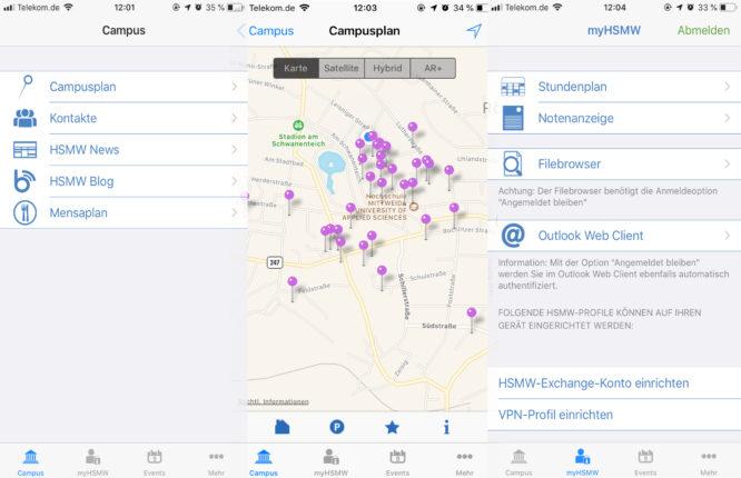 In der Hochschul-App kannst du alle wichtigen Informationen rund um dein Studium bequem mobil aufrufen.