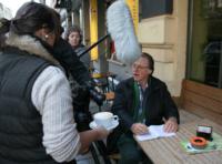 Filmdreh der Literaturner in Dresden
